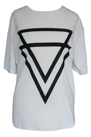 Double Triangle Printed Tee