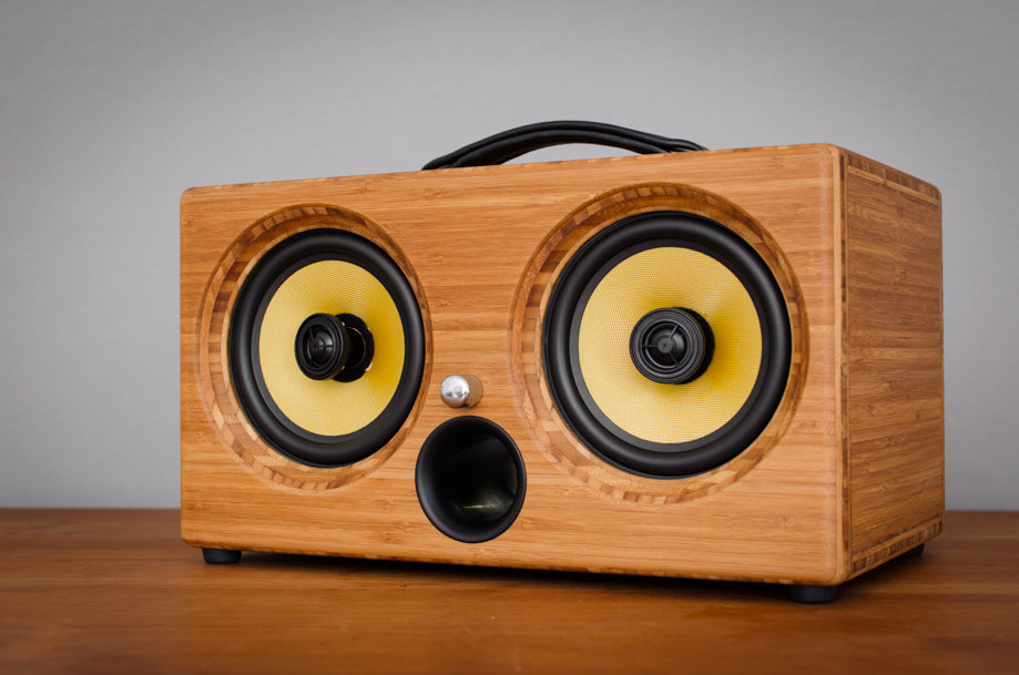 Best airplay speaker 2015 review wifi bluetooth speakers aptx new latest ultimate coolest speakers available wood solid woods wooden vintage hipster audiophile tk2050 sta508 sta516 tripath amplifier guitar amplifier HD sound music high resolution 1
