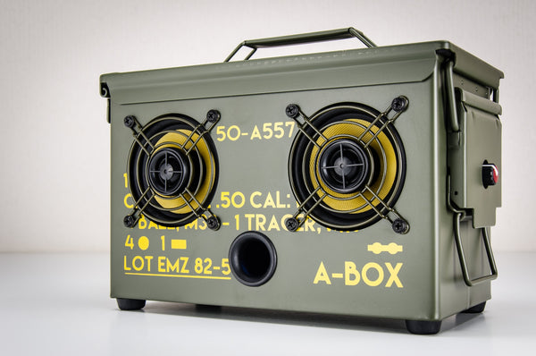 .10 CAL A-BOX™ The Original Ammo Can Boombox New 10