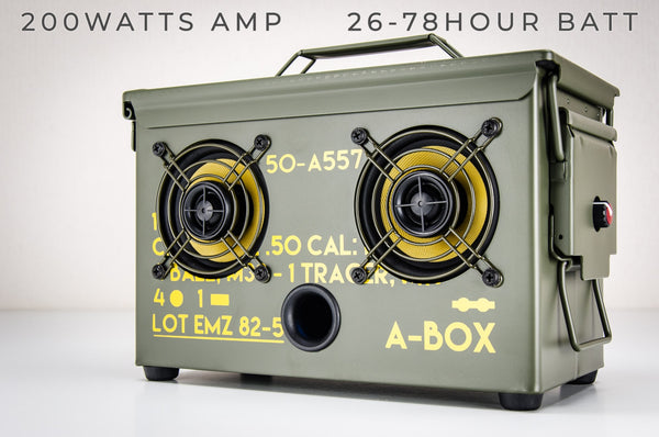 .50 CAL A-BOX™ The Original Ammo Can Speaker 2019