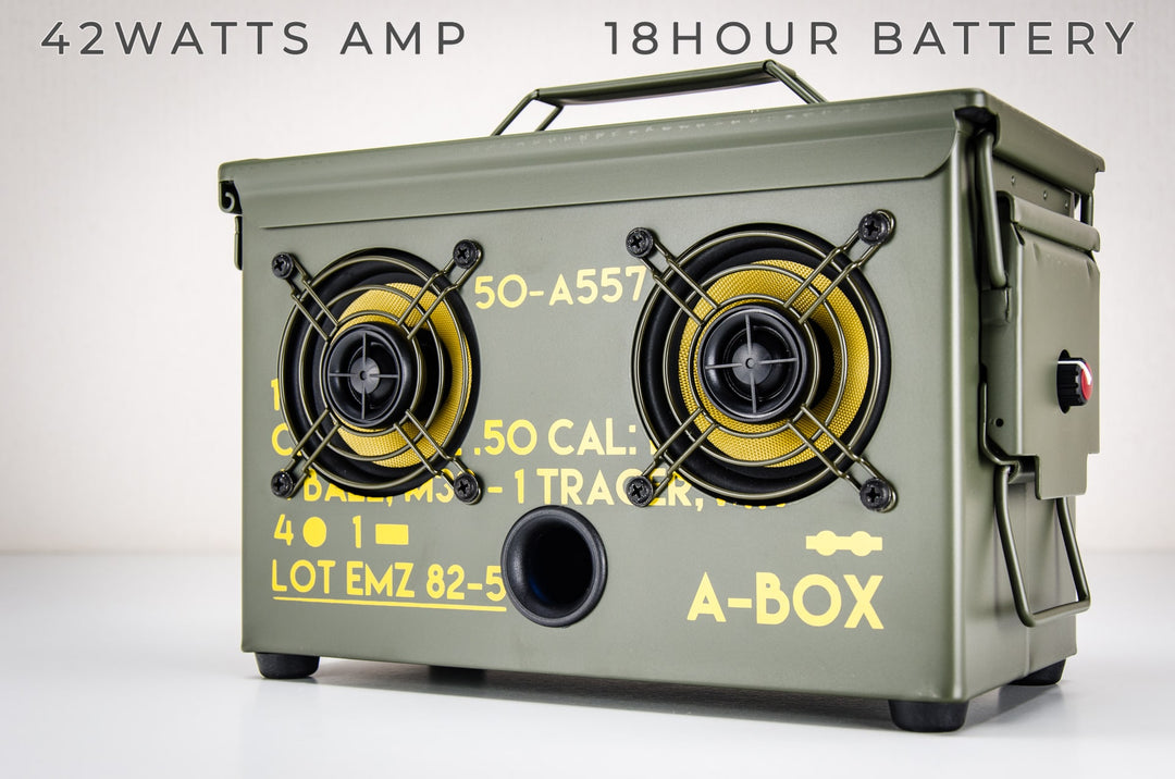 9MM A-BOX™ The Original Ammo Can Boombox New 2019 | Thodio