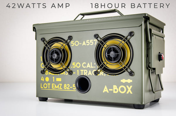 9MM A-BOX™ The Original Ammo Can Speaker 2021
