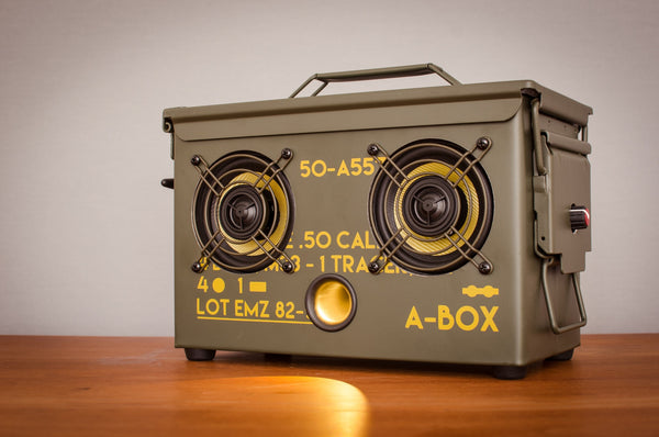 best ammo can speaker review 2016 bluetooth wireless waterproof outdoor new guitar amplifier army tactical edc guns ammo jeep willy m38 camping tailgating mancave