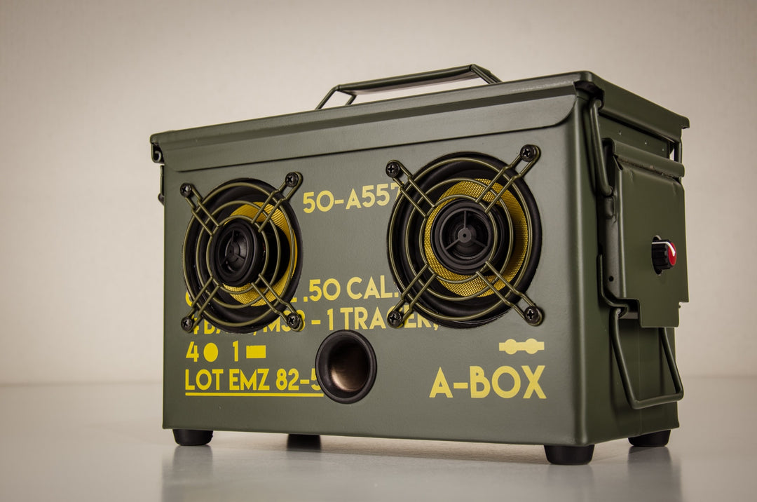 New 2017 50 Cal A Box The Original Ammo Can Boombox Thodio
