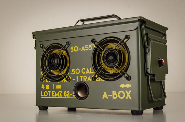 New 10 .10 CAL A-BOX™ The Original Ammo Can Boombox  Thodio