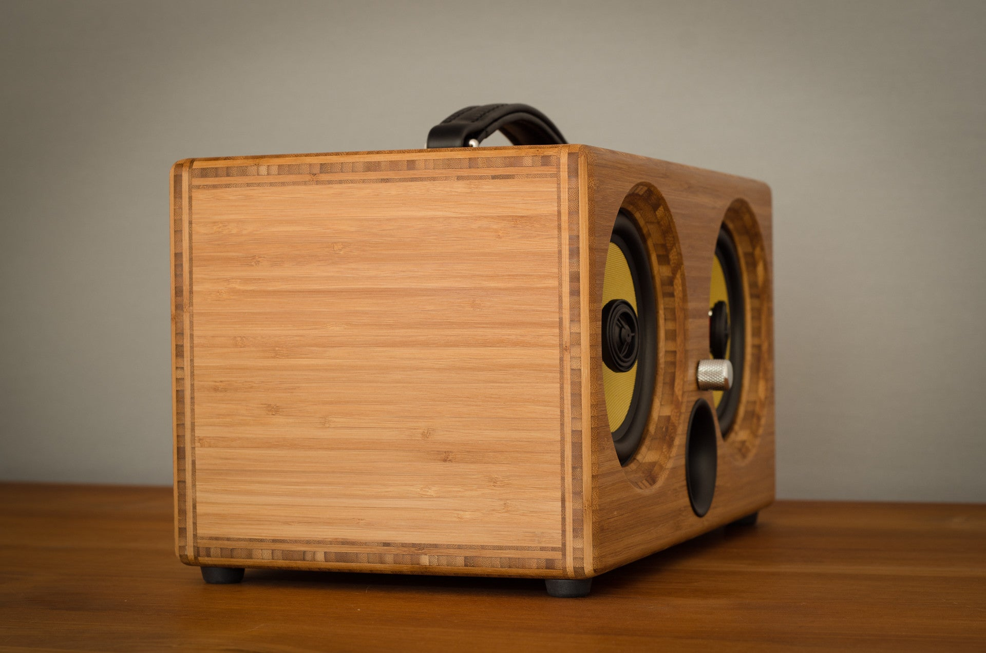 Ibox Xc Pressed Caramel Bamboo Wireless Bluetooth Speaker