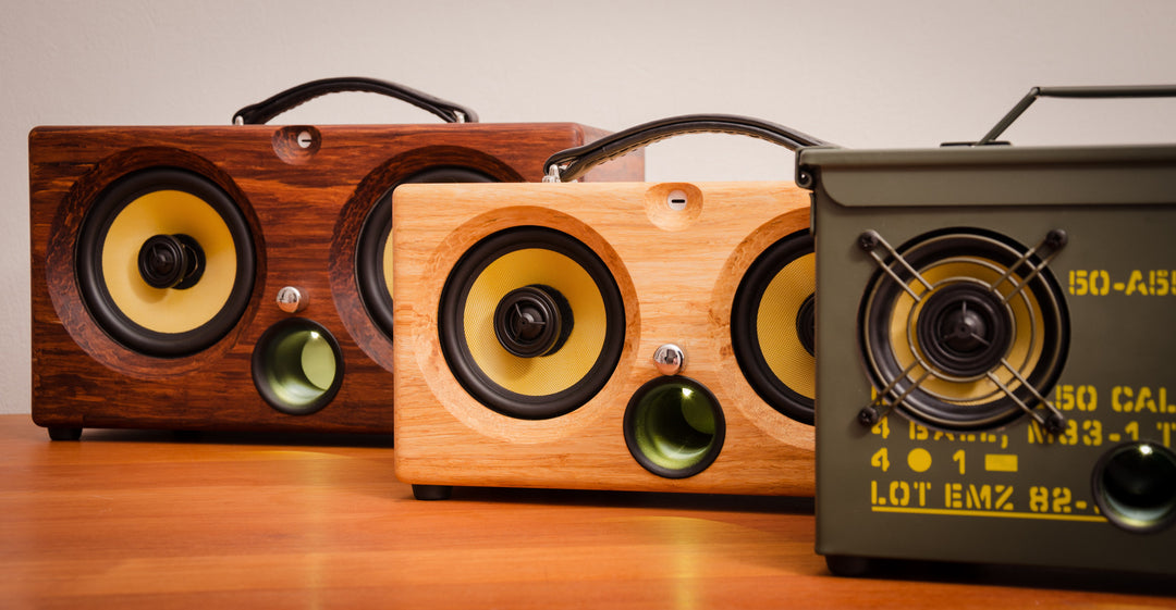 ultimate wooden aptX bluetooth audiophile boombox airplay speaker apple dock for iphone, thodio iBox teak oak zebrawood beech bamboo pono speakers pono wireless pono iphone app pono android app pono bluetooth