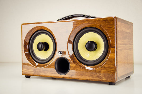 best wireless speakers review design bamboo wood wooden ibox xc wifi bluetooth audiophile golf speaker custom outdoor