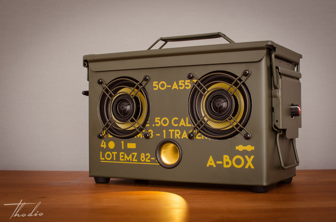 Thodio .50 CAL A-BOX™ The Original Ammo Can Boombox