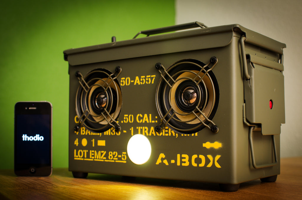 50 CAL A-BOX™ The Original Ammo Can Speaker | Thodio