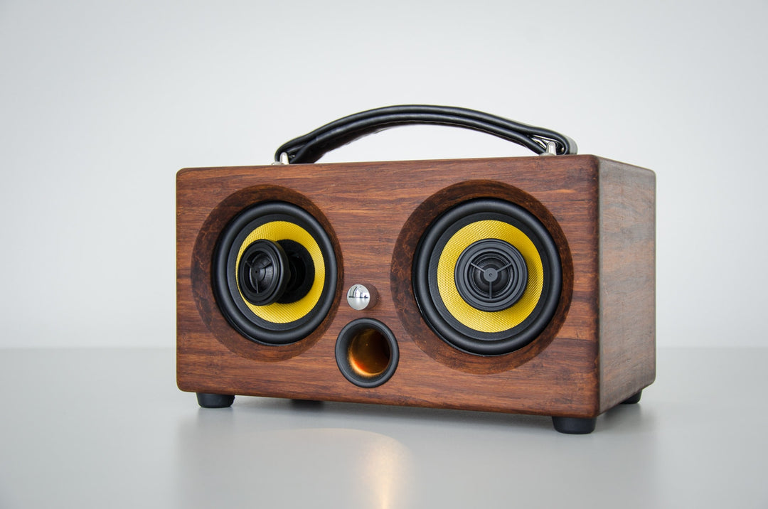 thodio ibox mini portable bluetooth speaker wireless wifi outdoor speakers camping beach festival boat holiday trip compact handmade manmade multi-room aptx high quality custom audio system bamboo wood design interior best review new 2017 soundbar homepod
