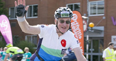 Cycling in support of the British Lung Foundation