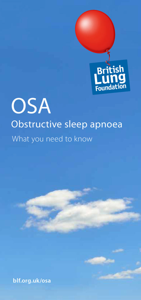 Obstructive sleep apnoea (OSA) leaflet