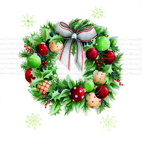 Festive wreath Christmas cards