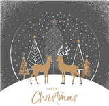 Golden deer Christmas cards