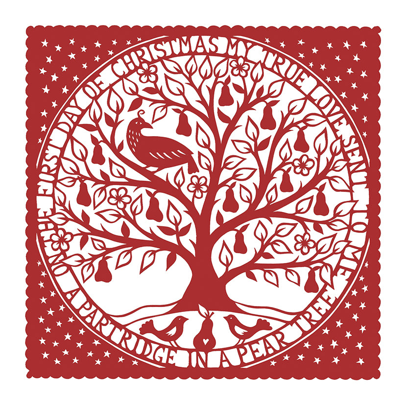 A partridge in a pear tree Christmas cards