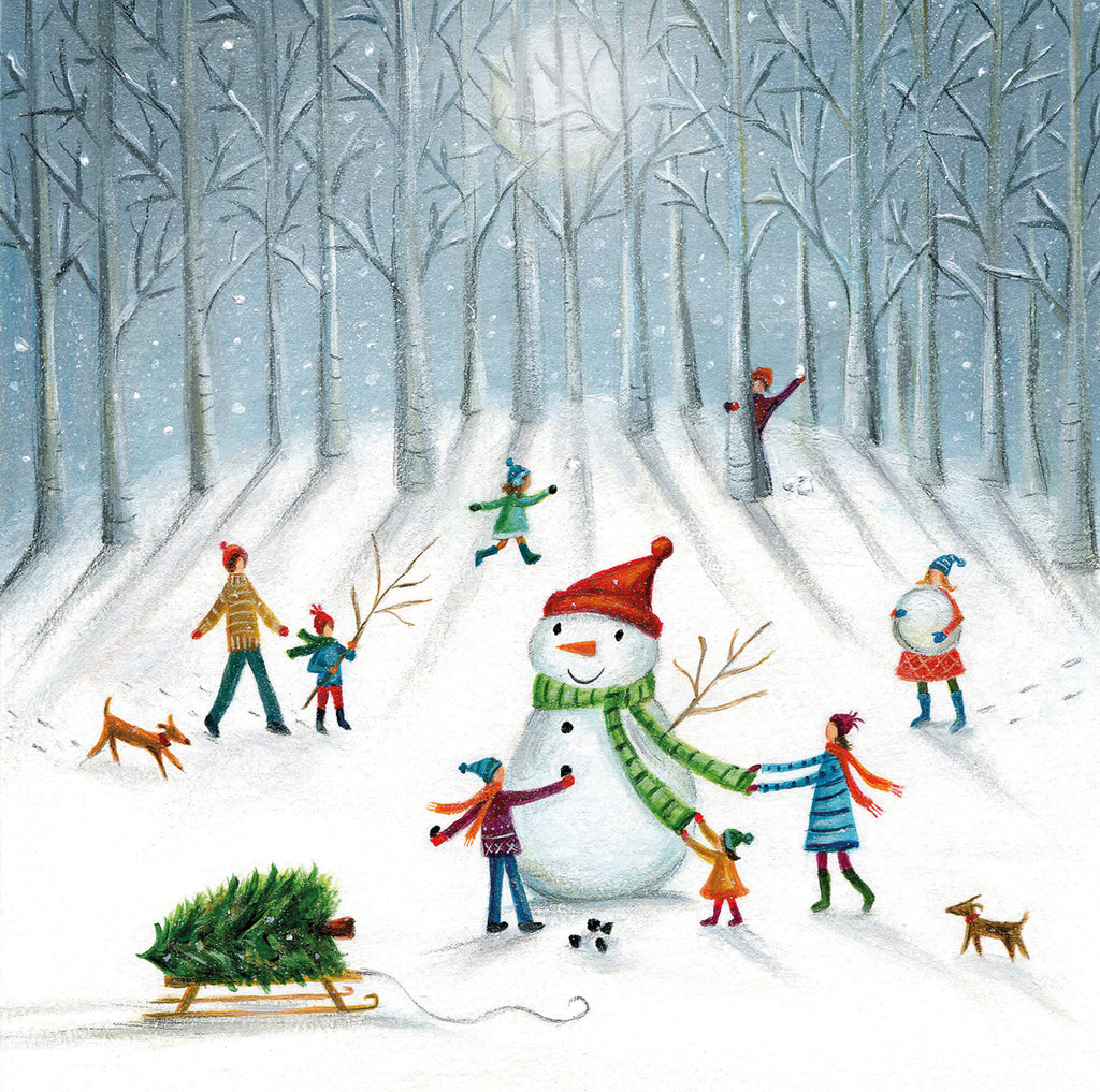 Winter woodland Christmas cards
