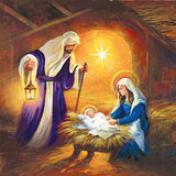Nativity scene religious Christmas cards
