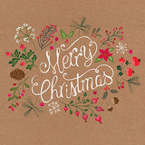 Merry Christmas wreath Christmas cards