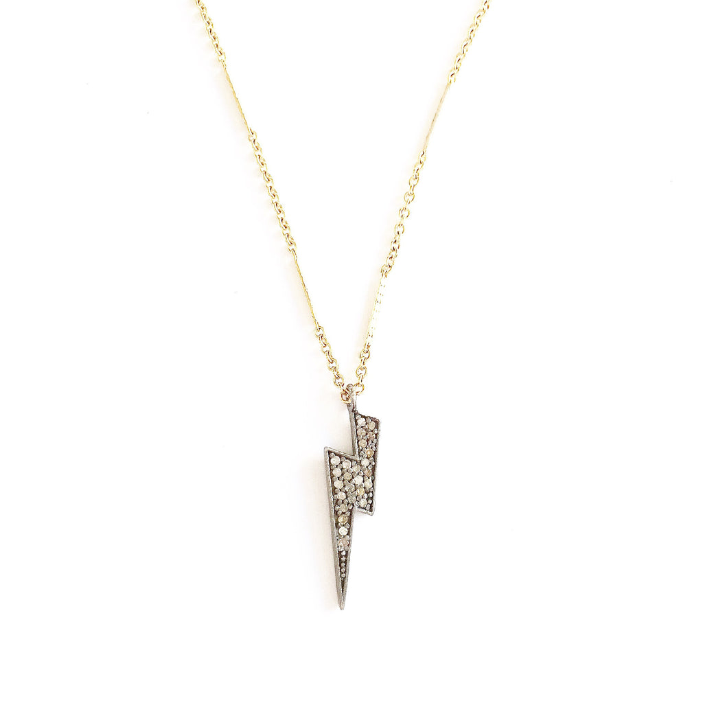 Diamond Bolt Necklace