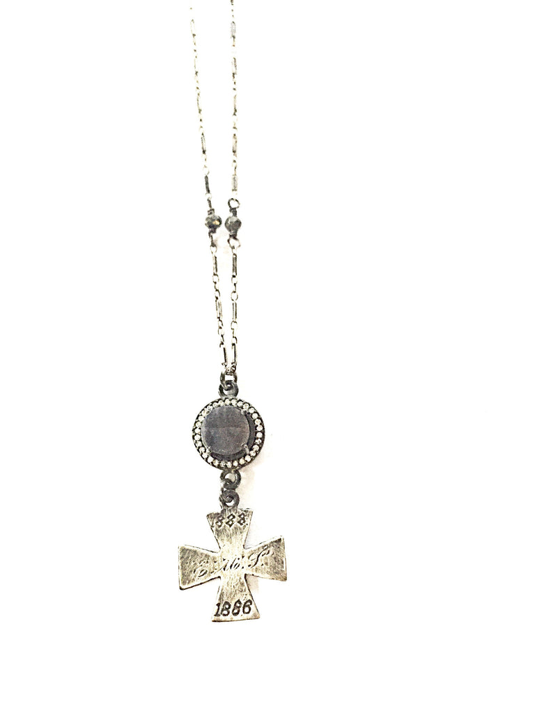 Isabella Sapphire Cross Necklace