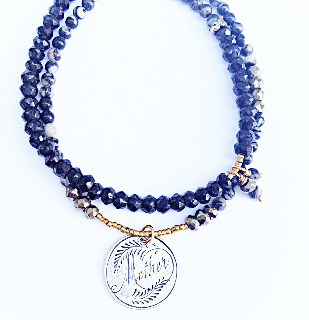 Mother Love Token Wrap Bracelet