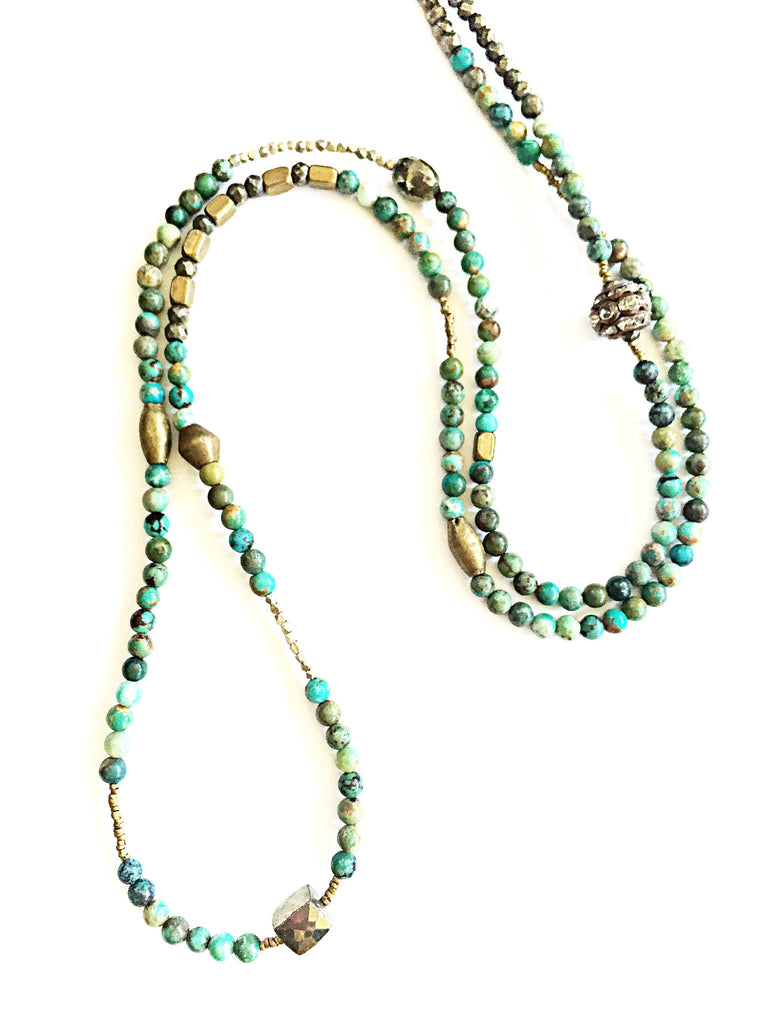 Turquoise Wrap Necklace   ( Available again 9/22)