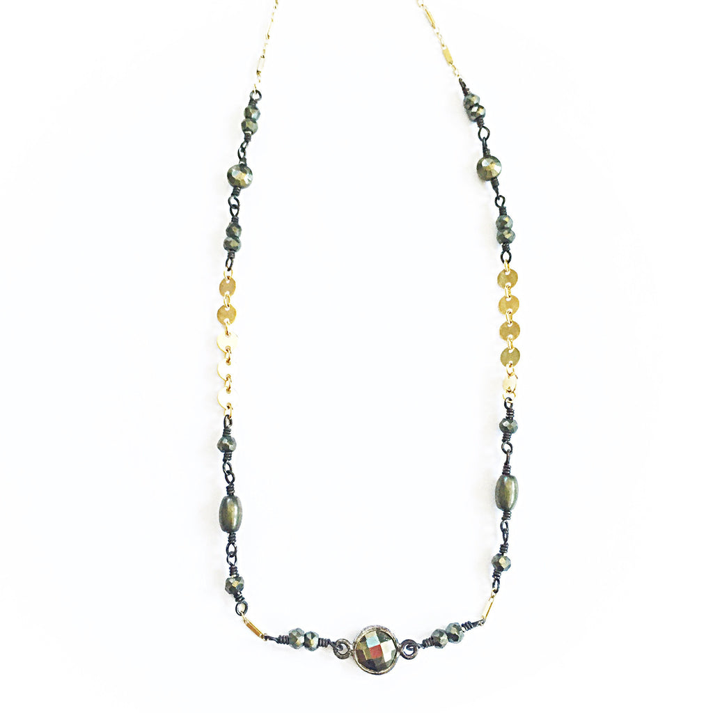 Pyrite Gold Filled Choker