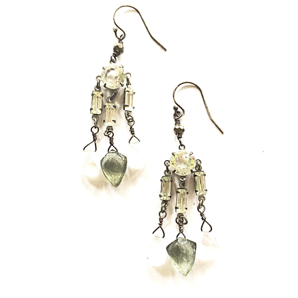Favorite Vintage Deco Rhinestone & Gemstone Earrings