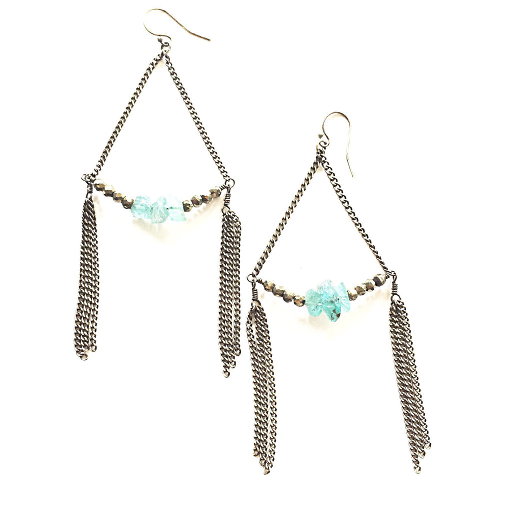 Apatite Fringe Earrings