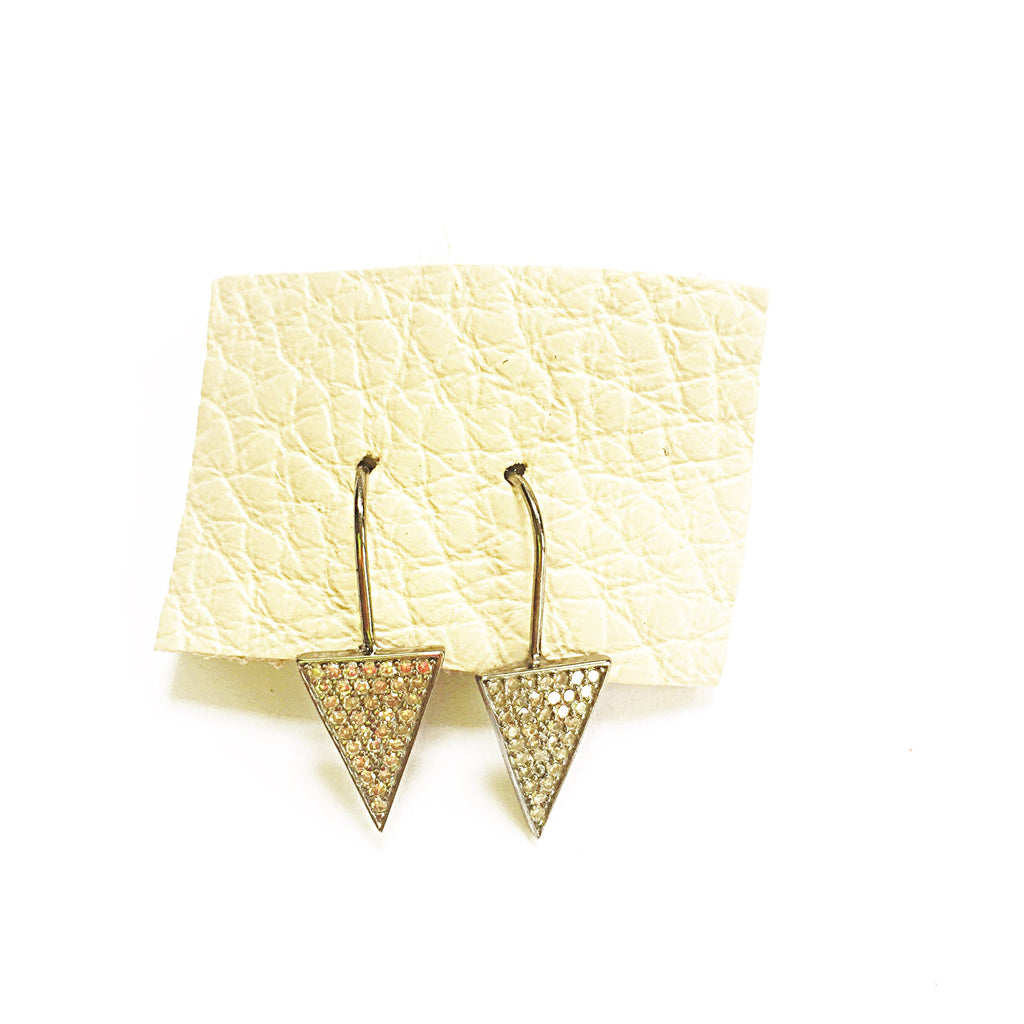 Diamond Arrow Drop Earrings