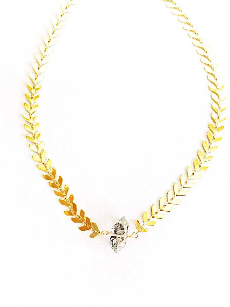 Golden Arrow Quartz Choker
