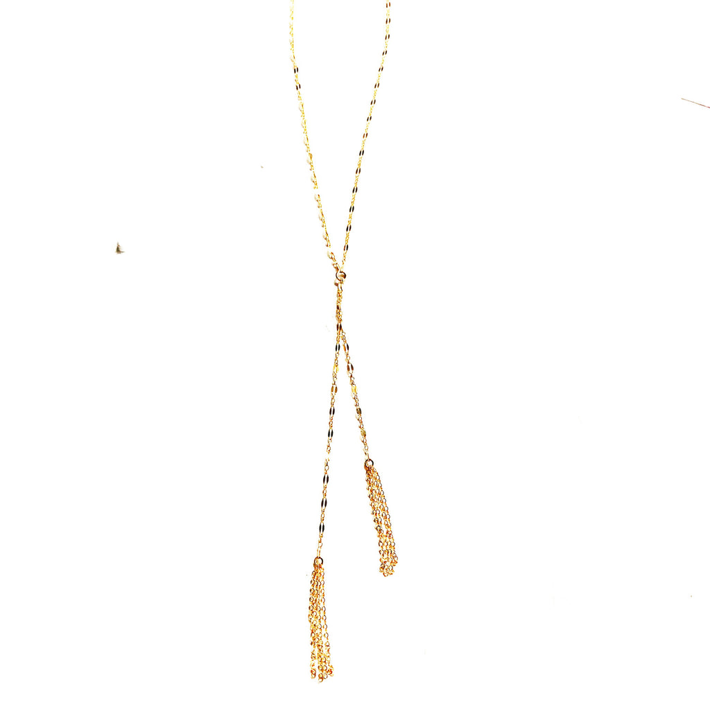 On The Fringe Short Necklace