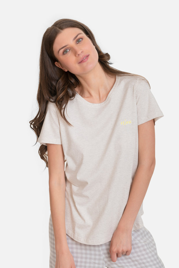 "HURLEY t-shirt with ""Relax"" embroidery"