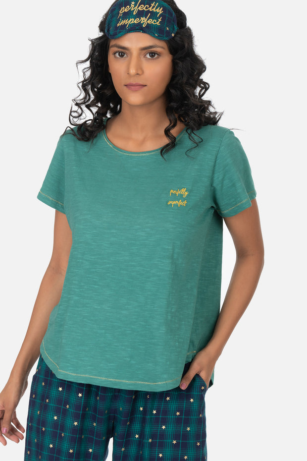 "HURLEY t-shirt with ""Perfectly imperfect"" embroidery"