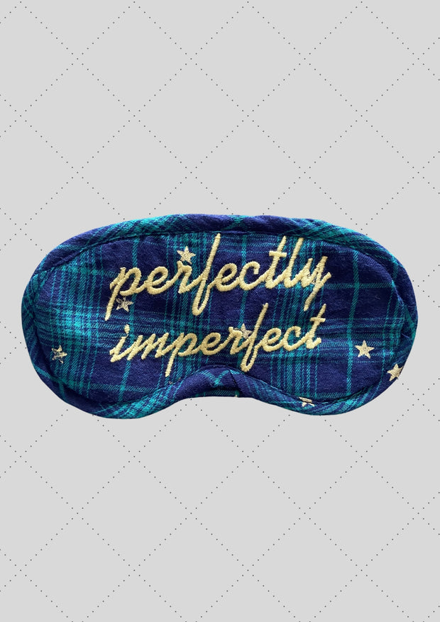 "Eye mask ""Perfectly imperfect"" embroidery"