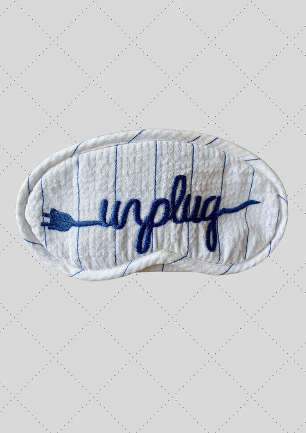 "Eye mask ""Unplug"" embroidery"