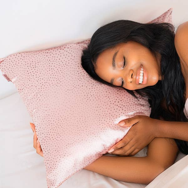 Micro Dot Satin Pillowcase  | KITSCH