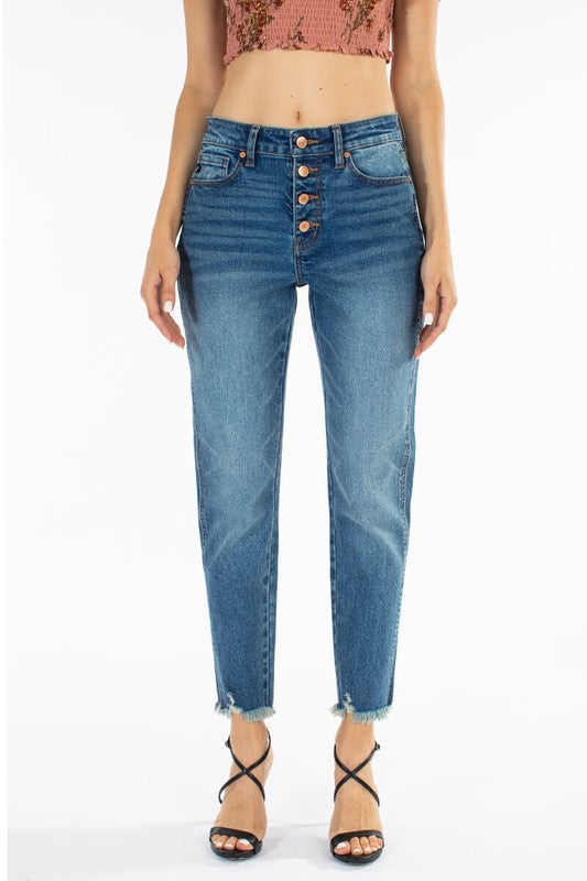 Maud High Rise Boyfriend Denim  | KanCan