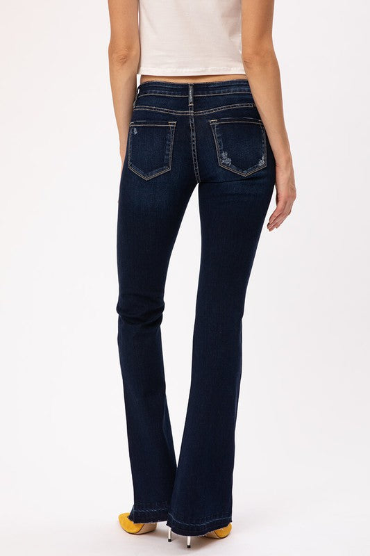 Nova Dark Wash Flare Denim | Kancan Brand