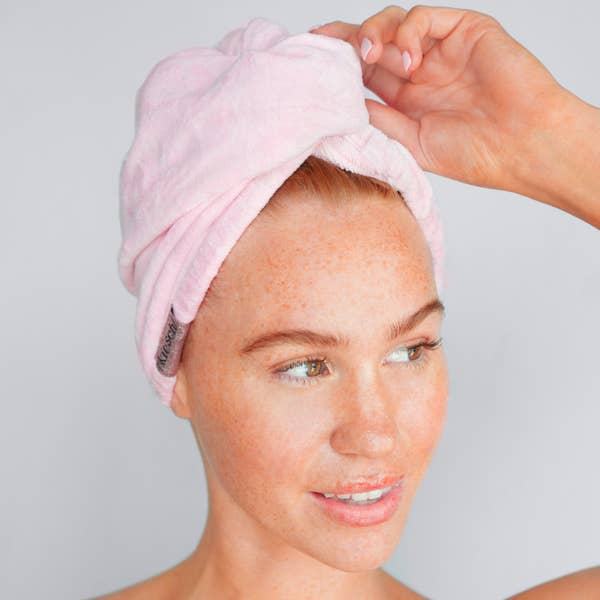 Blush Microfiber Hair Towel | KITSCH