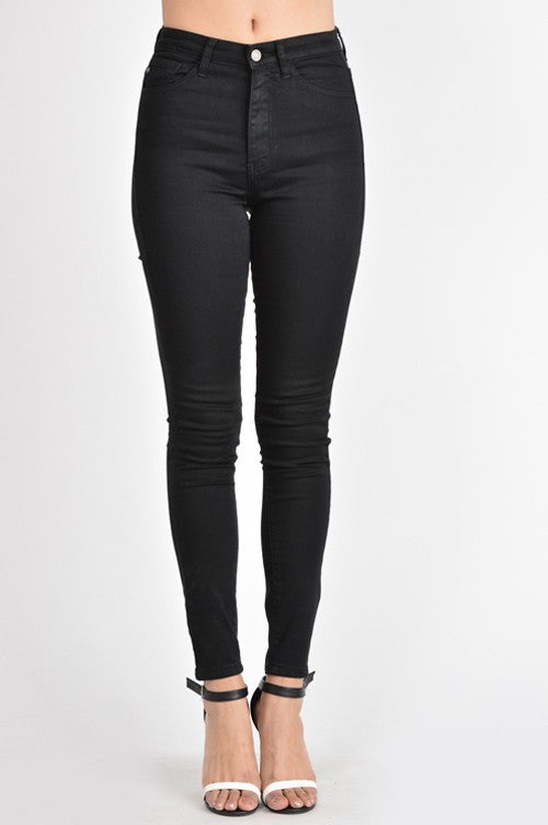Jasper High-Rise Black Denim | KanCan Brand