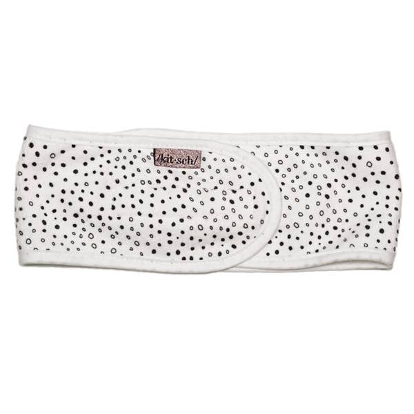 Micro Dot Microfiber Spa Headband