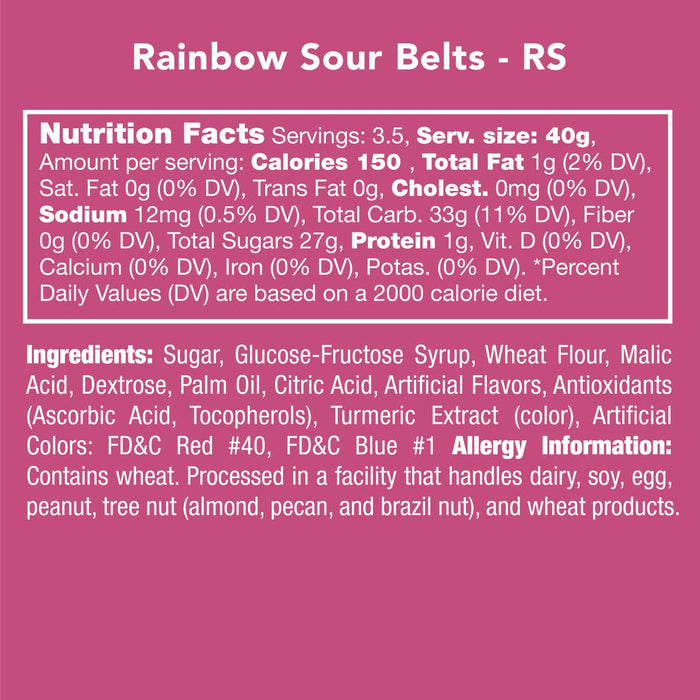 Rainbow Sour Belts  | Candy Club