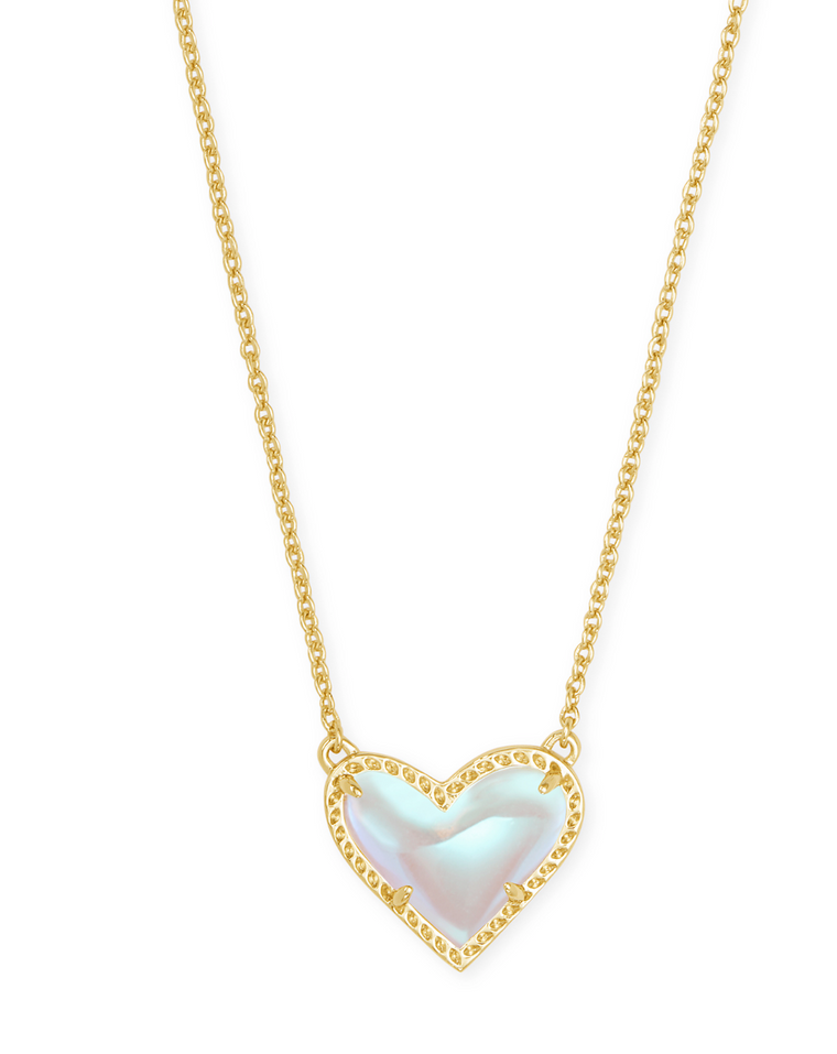 Ari Heart Dichroic Pendant Necklace