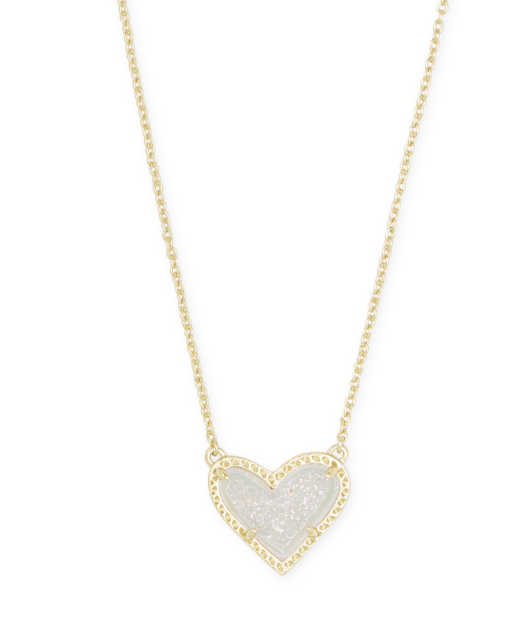Ari Heart Drusy Pendant Necklace | Multiple Colors