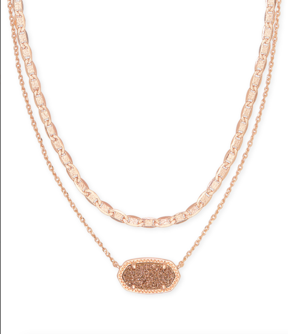 Elisa Muli Strand Necklace in Drusy | Multiple Colors