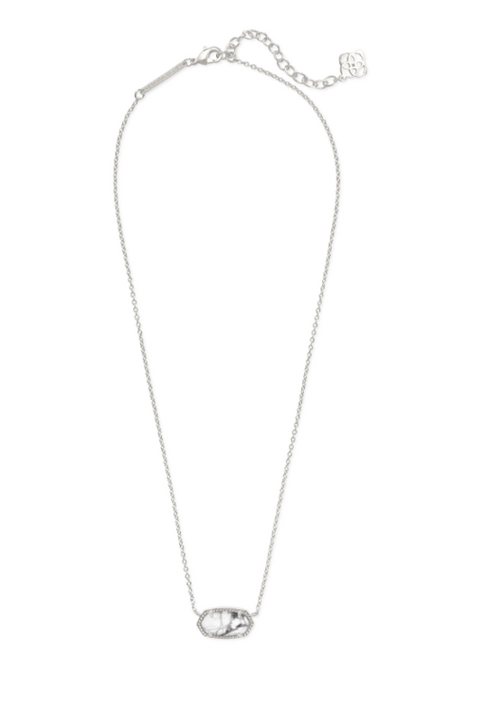 Elisa Pendant Necklace in White Howlite