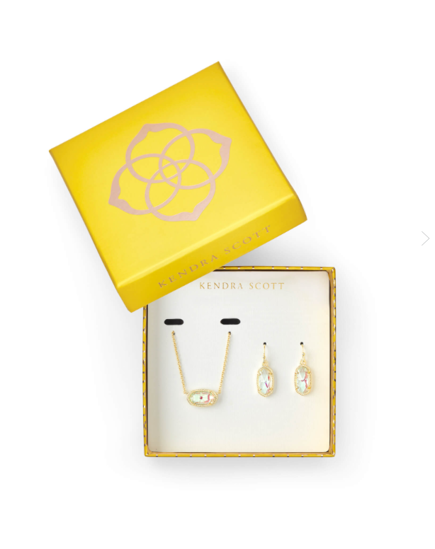 Elisa Necklace & Lee Earring Dichroic Gift Set