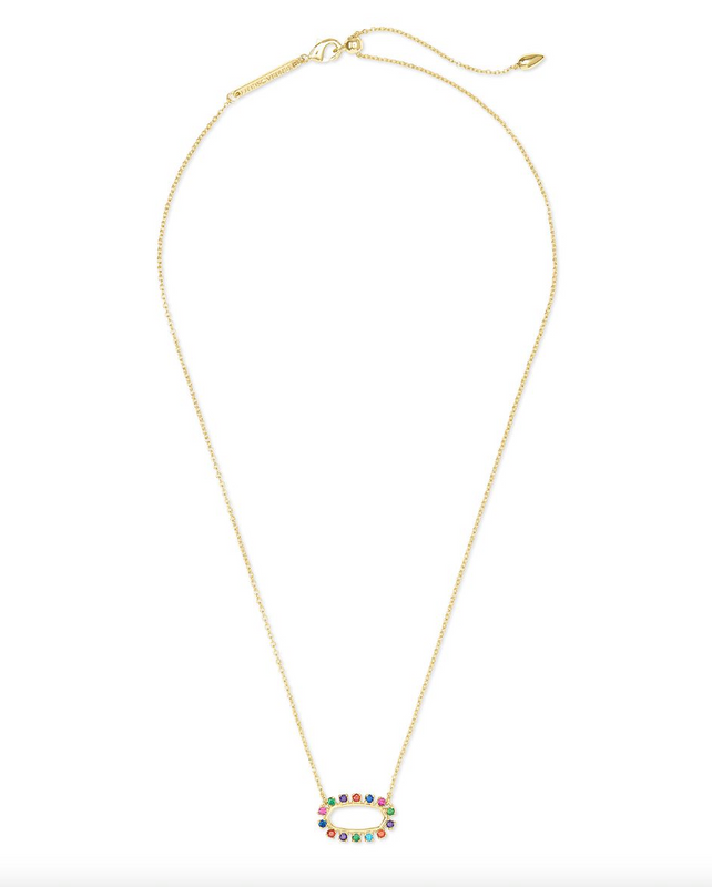 Elisa Open Frame Necklace | Multiple Colors